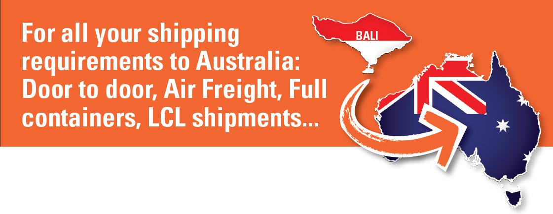 Bali Cargo Shipping to Australia