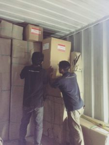 Container Stuffing back in our Bali warehouse