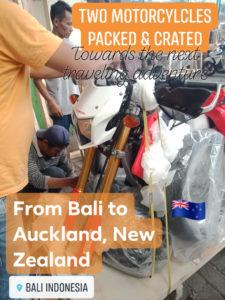 shipping motorbike from Bali