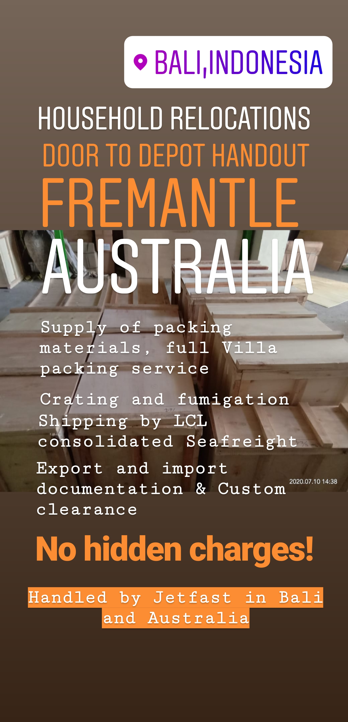 Moving from Bali to Fremantle