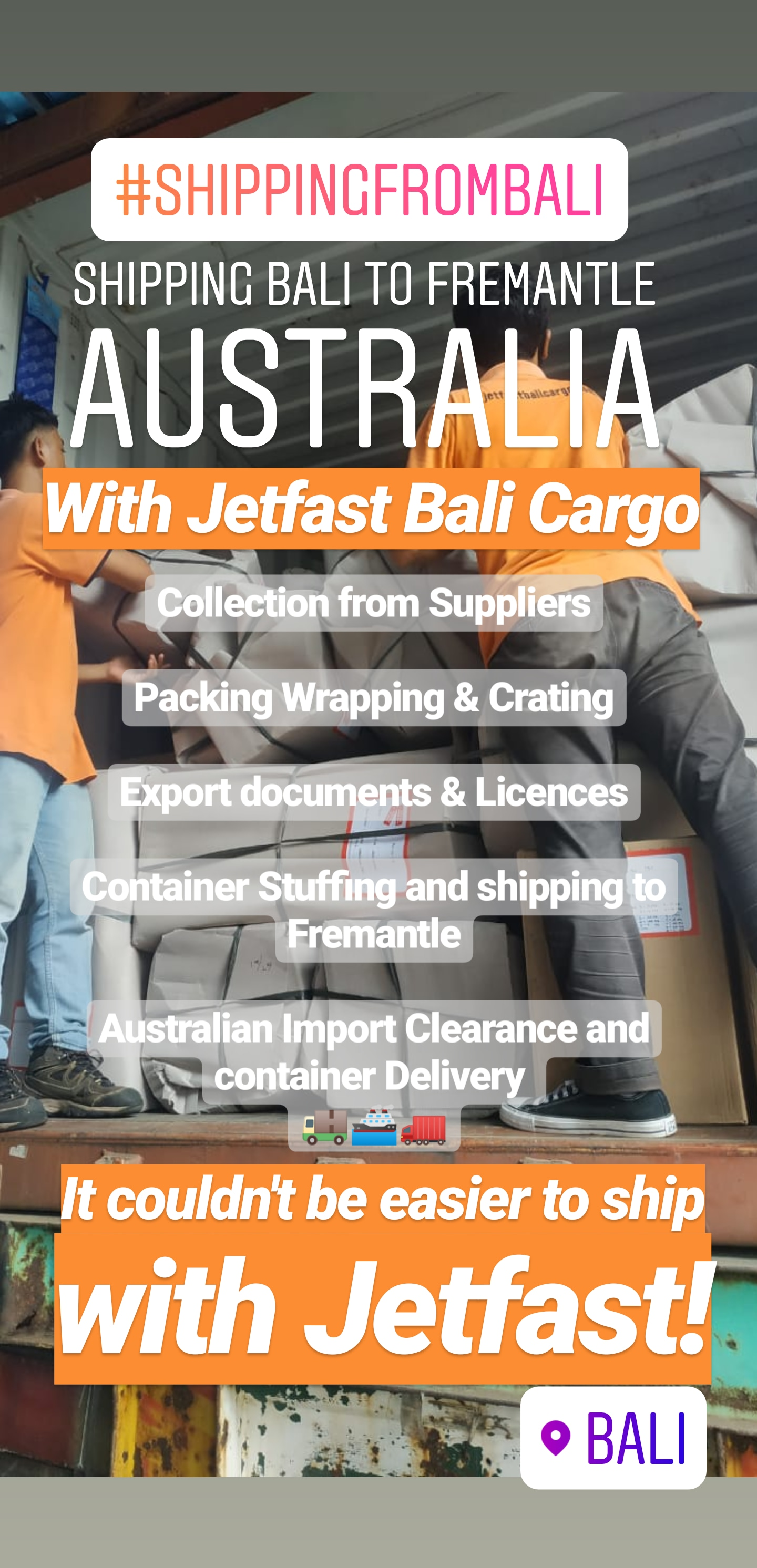 Shipping From Bali to Australia