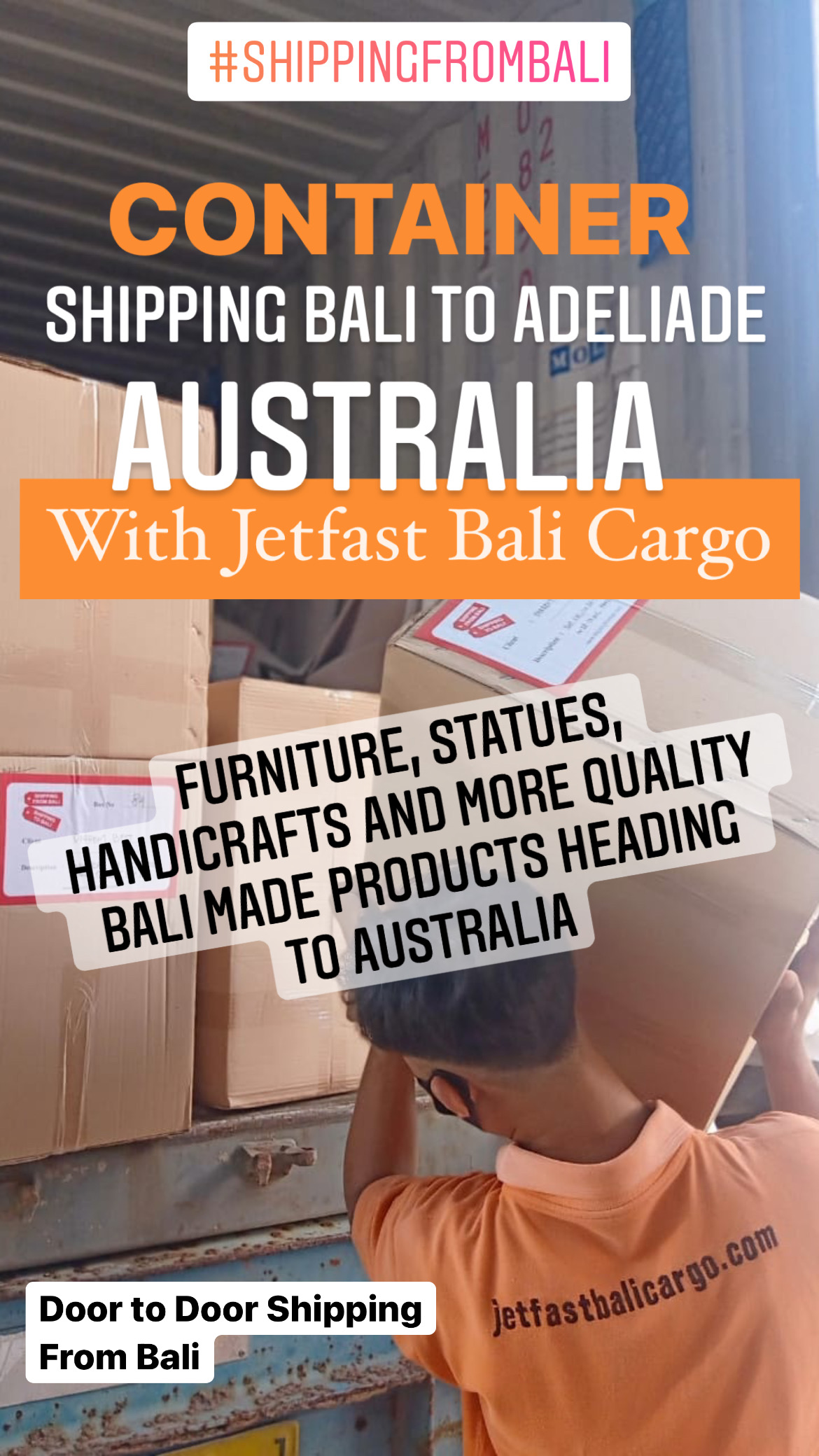 Shipping Bali to Adelaide