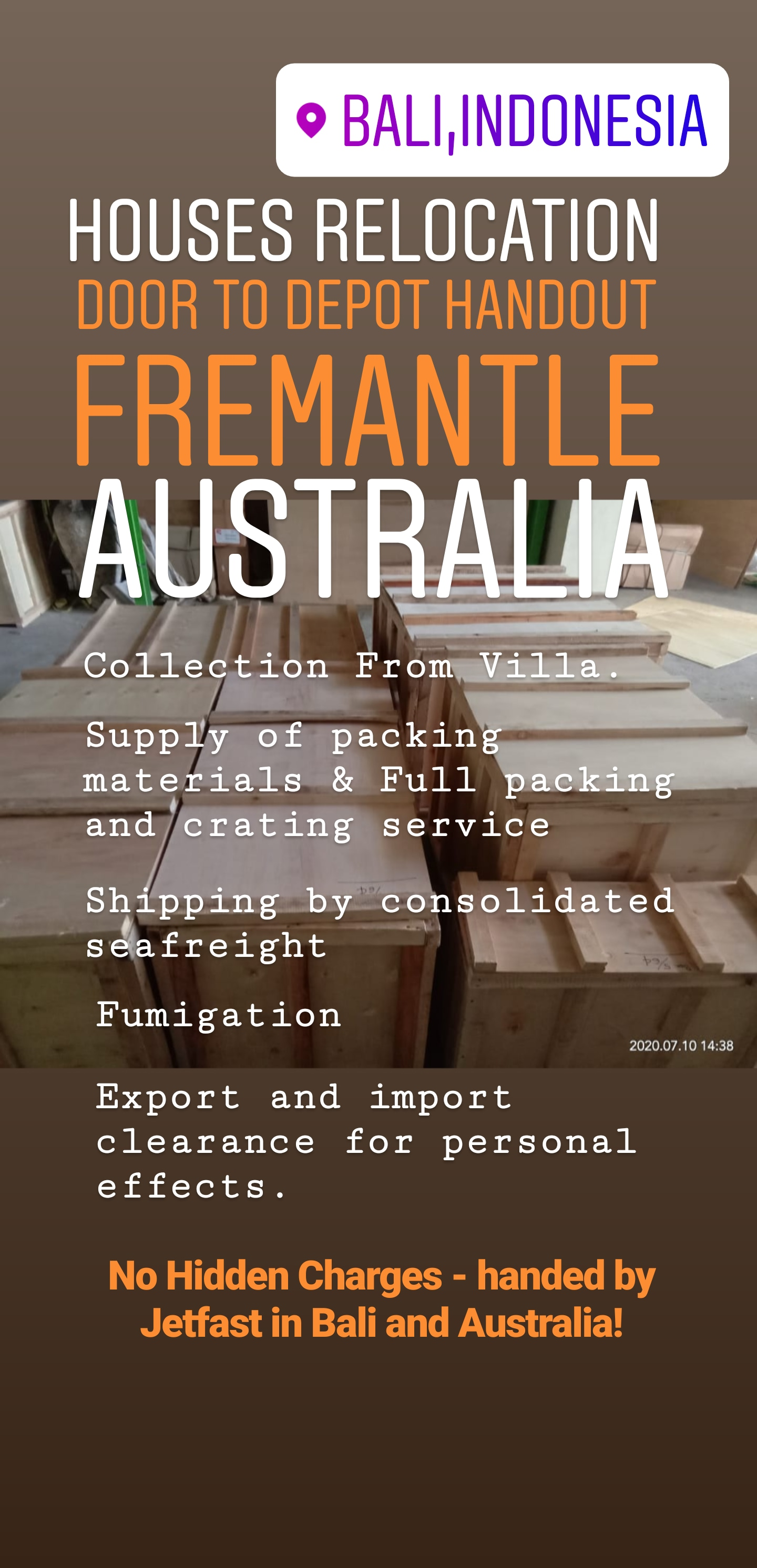 Personal Effects from Bali to Fremantle