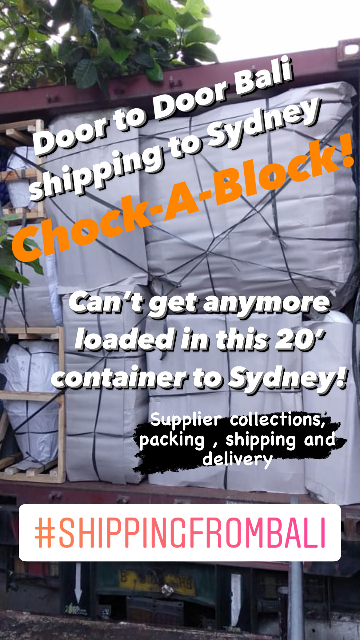 Shipping From Bali to Sydney